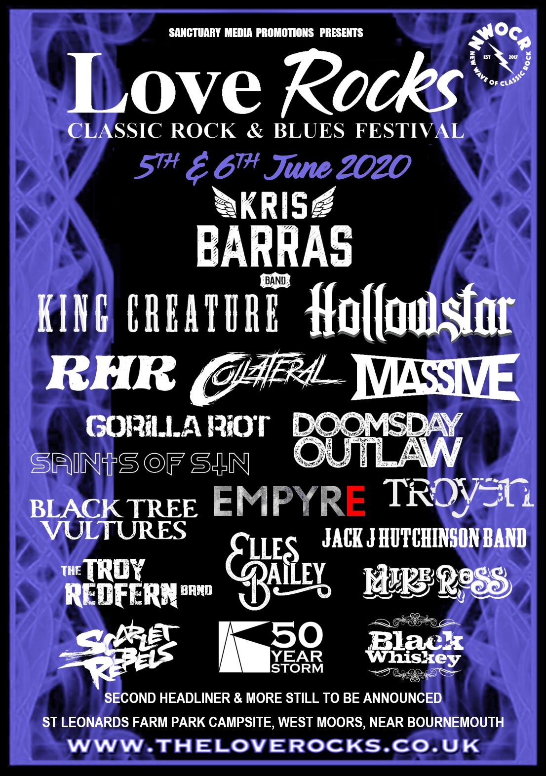 Loverocks 2020 Classic Rock Festival, Bournemouth, Dorset