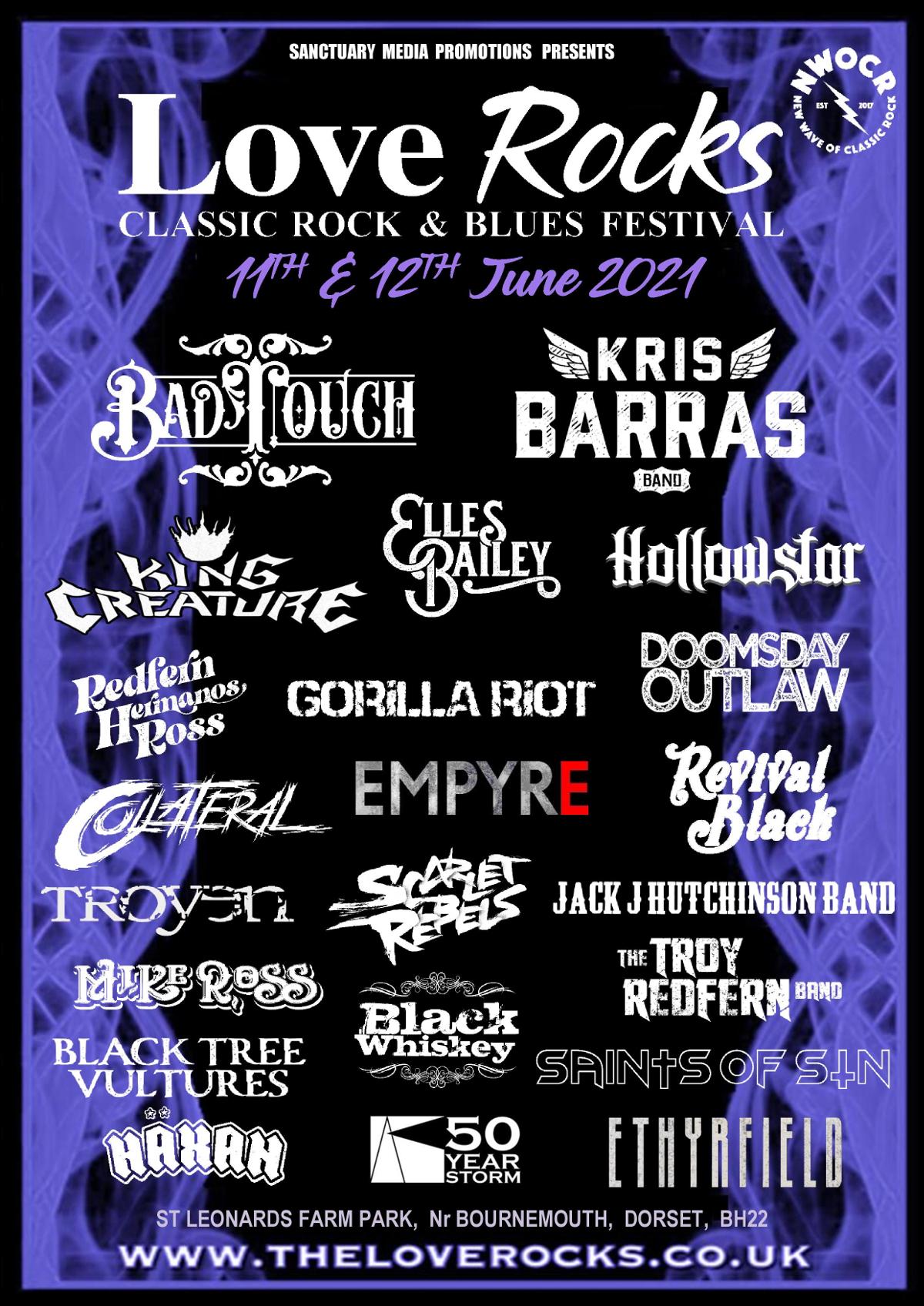 Love Rocks Classic Rock and Blues Festival 2021